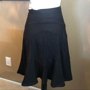 Couture Calvin Klein NWT Black Pattern Flare Skirt